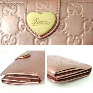 Authentic Gucci Guccissima Rose Wallet #203550
